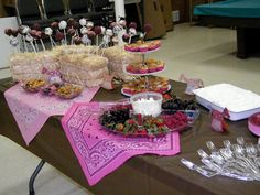 We did a country girl theme so we featured home made deserts and fruits.