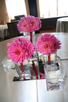 simple bouquet centerpieces