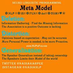 """NLP is Fun"": NLP Meta Model Deletion - Distortion - Generalizat... www.NLPisFun.com"