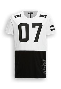 long fit T-shirt wit