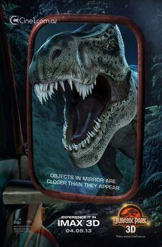 """Genial póster de """"Parque Jurásico 3D"""" - Aullidos.com"""