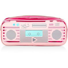 Tatty Devine Boom Box Cosmetic Case (€28) ❤ liked on Polyvore featuring beauty products, beauty accessories, bags & cases, bags, accessories, filler, toiletry bag, wash bag, travel bag and makeup bag case