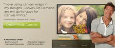 """Ty Pennington shows us how easy it is to get your best mobile photos made into quality, gallery-wrapped canvas art with Canvas On Demand. www.canvasondemand.com.  Mona (artdecorist) says, """"My daughter-in-law got a large, beautiful photo from here of my grandchildren on the beach & now they have a great special!"""" https://deals.shopsocially.com/flashsales/canvasondemand?cmp_id=54a6d8e5b6ede02385c0ddde&offer_ref=FB&auto_unlock=true"""