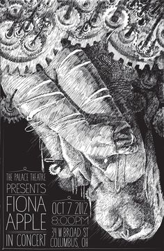 norvis:  A Fiona Apple Band Poster. Illustrated from her latest album.