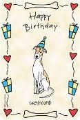 Greyhound Birthday Crunchkin Edible Rawhide Card