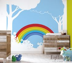Inspiration: lovely blue baby bedrooms (Eijffinger) #babybedrooms #eijffinger #wallpaper
