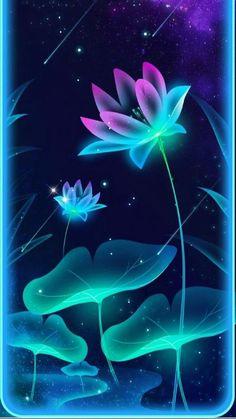 Blue Flower Wallpaper, Neon Wallpaper, Butterfly Wallpaper, Scenery Wallpaper, Cute Wallpaper Backgrounds, Flower Backgrounds, Pretty Wallpapers, Beautiful Wallpaper For Phone, Fantasy Art Landscapes