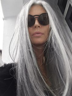 50 Silver Gray Ombre Hair Color Ideas, Silver Gray Ombre Hair is more than on trend right now. Grey hair is no longer considered 'granny hair' though the style has been affectionately c. Grey Ombre Hair, Long Gray Hair, Silver Grey Hair, Dark Hair, Gray Hair Women, Grey Hair Natural, Long Hair Older Women, Purple Hair, Onbre Hair