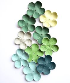 leather flower set mix di TrivialFashion su Etsy