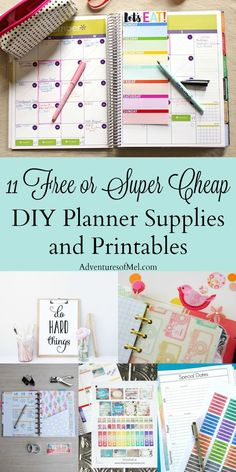 Where would I be without my planner? I love my Happy Planner, and my semi-obsession led me to compile a list of free or super cheap DIY planner supplies and printables. Get all sorts of planner ideas to feed your own obsession!
