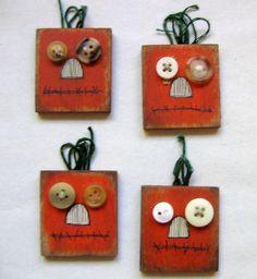 Prim Pumkin Magnets by barbsheartstrokes on Etsy