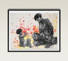 Watercolor Attack on Titan Levi Rivaille Print 8x10 by ColorInk, $20.00