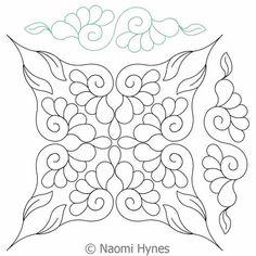 Digital Quilting Design Flowers in My Wedding DWR Set by Naomi Hynes.