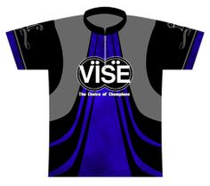 Vise Blue Dye Sublimated Jersey. An exclusive jersey for Vise, a leading insert and accessory manufacturer!