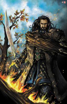 Thorin Oakenshield The King under the Mountain Hobbit Art, O Hobbit, The Hobbit Thorin, Thorin Oakenshield, Thranduil, Legolas, Gandalf, Fili Et Kili, Jrr Tolkien