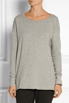 James Perse|Cotton-terry sweatshirt