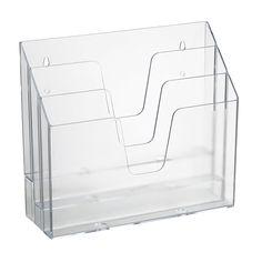 Amazon.com: Acrimet Horizontal Triple File Folder Organizer (Crystal Color): Home & Kitchen