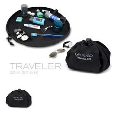 Flat Drawstring Bags : lay n go! good for travel around