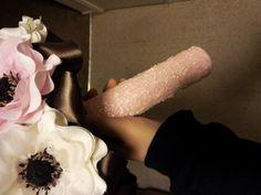 Glitter Bouquet Holder :  wedding bouquet bouquet holder diy glitter pink 20130212 195312