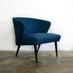 SALE 1950s Mccobb Style Blue Lounge Chair von TheModernHistoric