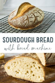 This is the only truly foolproof sourdough bread recipe! Your bread machine kneads it and you don't have to do any folding or use any weird tools! Turns out perfectly time after time, using use your sourdough starter, water, salt, and bread flour. Recipe Using Sourdough Starter, Easy Sourdough Bread Recipe, Sourdough Bread Starter, Keto Bread, Recipe Breadmaker, Bread Food, Yeast Bread, Bread Baking, Easy Bread Machine Recipes