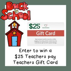 Enter to win a $25 TpT Gift Card!!!!!!