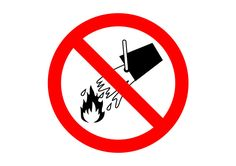 No Water On Fire Free Vector Sign
