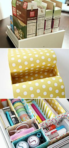 Homemade Drawer Dividers