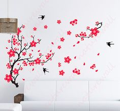 cherry blossom decals Kids wall decal flower decals by NatureWall