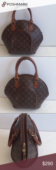 Authentic Louis Vuitton Eclipse PM Monogram Bag Leather and straps showed signs of used. The straps are darker due to holding. Some light stains are inside the bag. The canvas is good condition. The bag was made in France with a date code MI 0998. Louis Vuitton Bags Satchels
