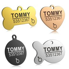 Anti-lost Stainless Steel Dog/cat ID Tag