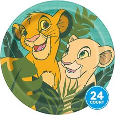 Disney The Lion King Dinner Plates, 8 plates per pack. Pile on your favorite part food and enjoy the jungle with Simba and Nala! Lion King Theme, Lion King Party, Lion King 1, Lion King Birthday, Lion King Cakes, Disney Lion King, Safari Party, Party Banner, Lion King Baby Shower