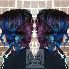 Purple. Blue. Teal