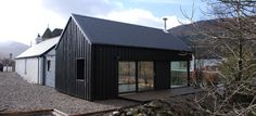 Stance Cottage, Bridge of Orch Granny Flat, Minimalist Home, Black House, Modern Architecture, Shed, Cottage, Exterior, Outdoor Structures, Street