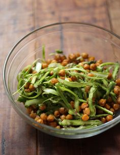 Roasted Chick Pea and Asparagus Salad