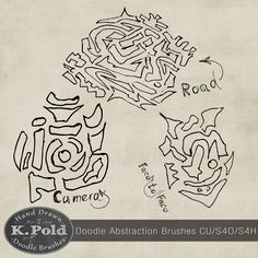 Free Abstraction doodle photoshop brushes