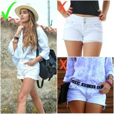 Luv May / Blog de moda para estilosas Shorts Jeans, White Shorts, Ideias Fashion, Blog, Women, Bugs, Street