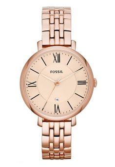 Horloges Fossil JACQUELINE - Horloge - rosegold-coloured goudrozekleurig: € 139,95 Bij Zalando (op 5-11-16). Gratis bezorging & retournering, snelle levering en veilig betalen!