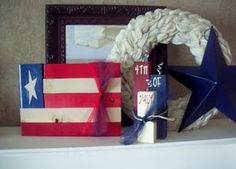 Quick & easy patriotic crafts & diy projects - for of July, Memorial day weekend, the olympics, veteran's day, etc Patriotic Crafts, July Crafts, Fourth Of July Decor, 4th Of July, Wood Flag, Fun Shots, Diy Craft Projects, Craft Ideas, Independence Day