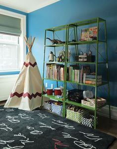 Any time you get the chance to put a tepee in a boy's room, you should take it.
