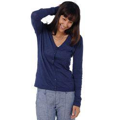 Women's Shadowstripe Cardigan ~ Linen Sweater ~ Horny Toad Activewear