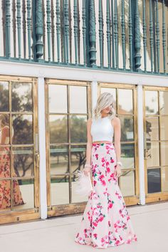 Floral two piece gown - Mckenna Bleu
