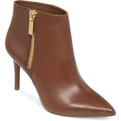 Jessica Simpson Lafay Booties ($139) ❤ liked on Polyvore featuring shoes, boots, ankle booties, sapatos, short booties, jessica simpson boots, pointed boots, side zip boots and faux boots