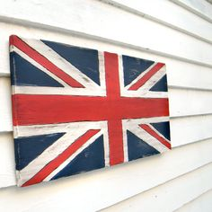 Union Jack Sign Flag British Sign Wooden Sign by SlippinSouthern, $137.00