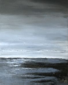 Tons de gris, noir et gris bleuté. Peinture acrylique sur toile 50 x 60 cm Acrylic Paintings, Board, Toile