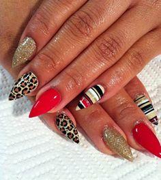 designer stiletto nails | stiletto nails/뾰족네일/단검네일/스틸레토네일/스틸 ...