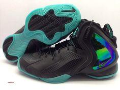 buy popular 641e8 77dd7 nike lil penny posite teal 2 Nike Lil Penny Posite Black Teal Nike Socks,  Sneaker