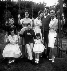 Dean Martin with wife Jeanne & children Claudia, Gail, Deana, Gina, Dean Jr., Ricci.