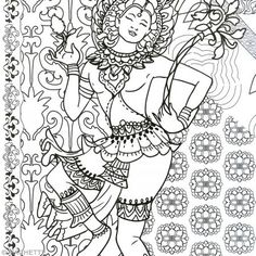 coloriage anti stress bouddhisme