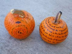 pumpkin doodle love notes--doodle bug with a sharpie right on that little pumpkin!
